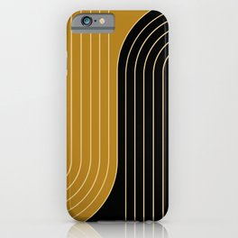 Two Tone Line Curvature IX iPhone Case