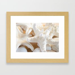 White Starfish Framed Art Print