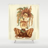 pirate Shower Curtains featuring Pirate by Fabio Mancini