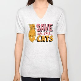 Save the LOL Cats Unisex V-Neck
