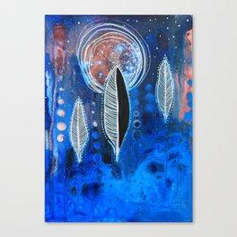 Feather Moon Canvas Print
