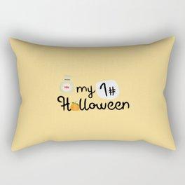 My First Halloween Pumpkin T-Shirt Dtx2t Rectangular Pillow