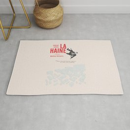 La Haine (Hate) Vincent Cassel, Mathieu Kassovitz, alternative movie poster, banlieue french film Rug