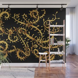 gold vine Wall Mural