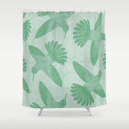Hummingbird Pattern Shower Curtain