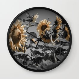 Sunflowers On My Mind Wall Clock