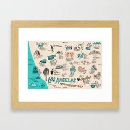 Anti-Boredom Map  Framed Art Print