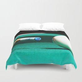 Pool Table-Green Duvet Cover