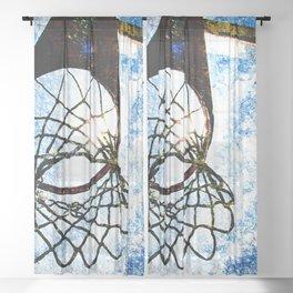 Basketball art spotlight vs 3 Sheer Curtain
