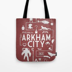 Welcome To Arkham City Tote Bag