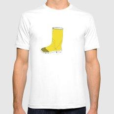 My favorite yellow boot White Mens Fitted Tee MEDIUM