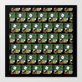 record pattern4 Canvas Print