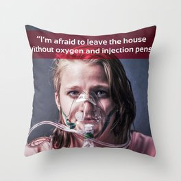 Oxygen 03 Throw Pillow