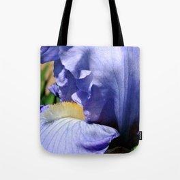 Blue Lavender Iris Close Up Tote Bag