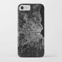 milwaukee iPhone & iPod Cases featuring milwaukee map by Line Line Lines