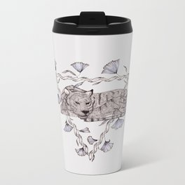 Tigers Sleeping Metal Travel Mug