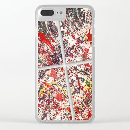 Trezzo - Splatter painting Clear iPhone Case