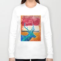 rothko Long Sleeve T-shirts featuring Deer Rothko by winterkl