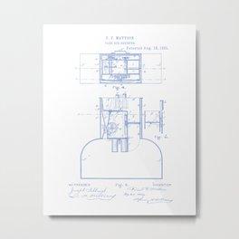 Fare Box Vintage Patent Hand Drawing Metal Print