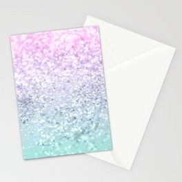 Mermaid Girls Glitter #1 (2019 Pastel Version) #shiny #decor #art #society6 Stationery Cards