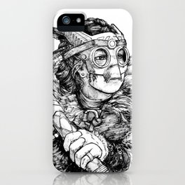 Masked warrior princess iPhone Case