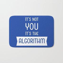 Social Media Algorithm Blues Bath Mat