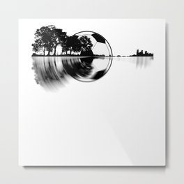 Soccer Guitar - Nature Reflection Metal Print