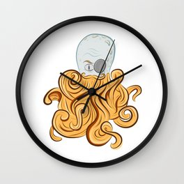 Octo-Beard Wall Clock