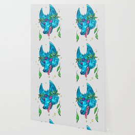 Space Coyote with Leaf Crown Wallpaper