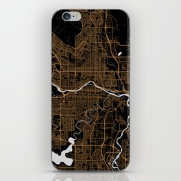 Calgary | Alberta | Canada - Minimalist City Map iPhone Skin
