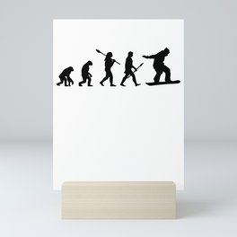 Snowboarder wintersport Mini Art Print
