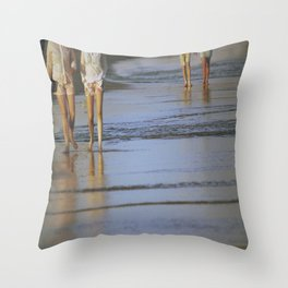 2's at the Beach Throw Pillow