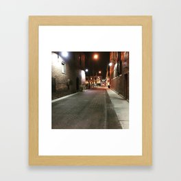Downtown Alley Framed Art Print