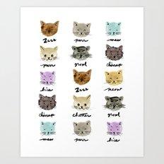 Kitty Language Art Print