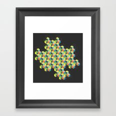 Island of Cubes Framed Art Print