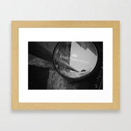 Irish American Whiskey Barrel Framed Art Print