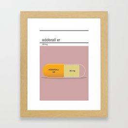 adderall xr 30mg art Framed Art Print