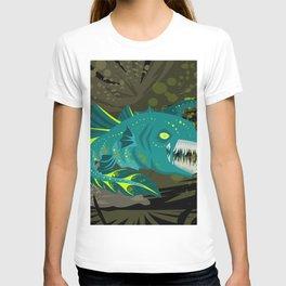deep abyss light fish T-shirt