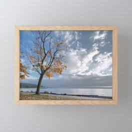 Autumn Seascape Framed Mini Art Print