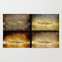 ships Area & Throw Rugs featuring Ships by Anki Hoglund