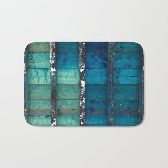 cold wooden palette Bath Mat