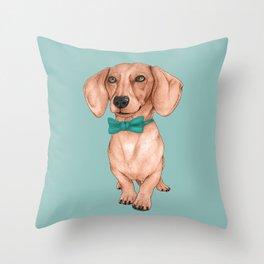 Dachshund, The Wiener Dog Throw Pillow