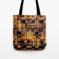art deco Tote Bags featuring art deco by clemm