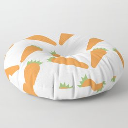 Carrots Pattern Floor Pillow