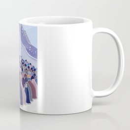 Huddling Penguins Coffee Mug