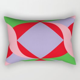Two red squares and a Squared hole Rectangular Pillow