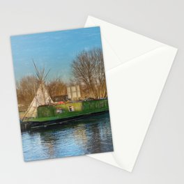 Canal Boats And A Teepee Stationery Cards