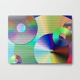 Abstract Binary Disks Metal Print