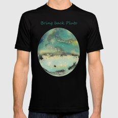 Postcards From Pluto 2 Black MEDIUM Mens Fitted Tee