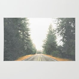 Forest road Rug